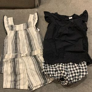 NWT/NWOT 2pc Carter's Shorts Outfits 12-18M